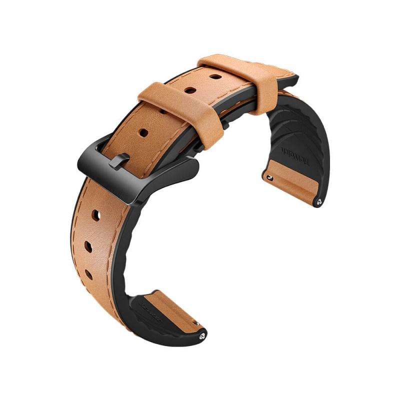 Ticwatch hybridní řemínek (šedá-hnědá)